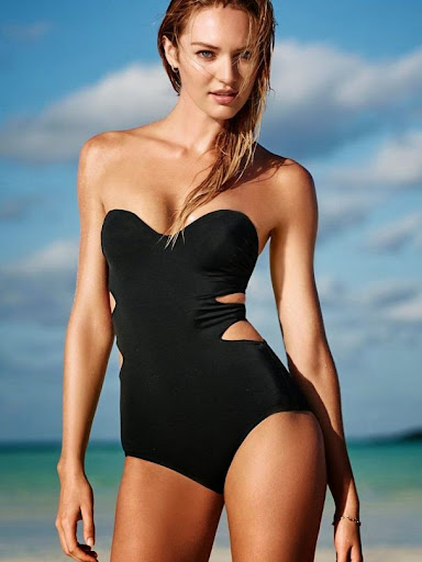 Candice Swanepoel cleavage Victoria's Secret sexy bikini photoshoot