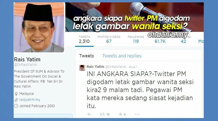 INI ANGKARA SIAPA Foto Bogel Boleh Muncul Dalam Twitter Najib Razak