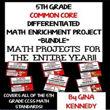 5th Grade Common Core Math Projects To Use All Year! All Standards!