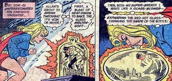 Supergirl #2, Supergirl inflates Kandor