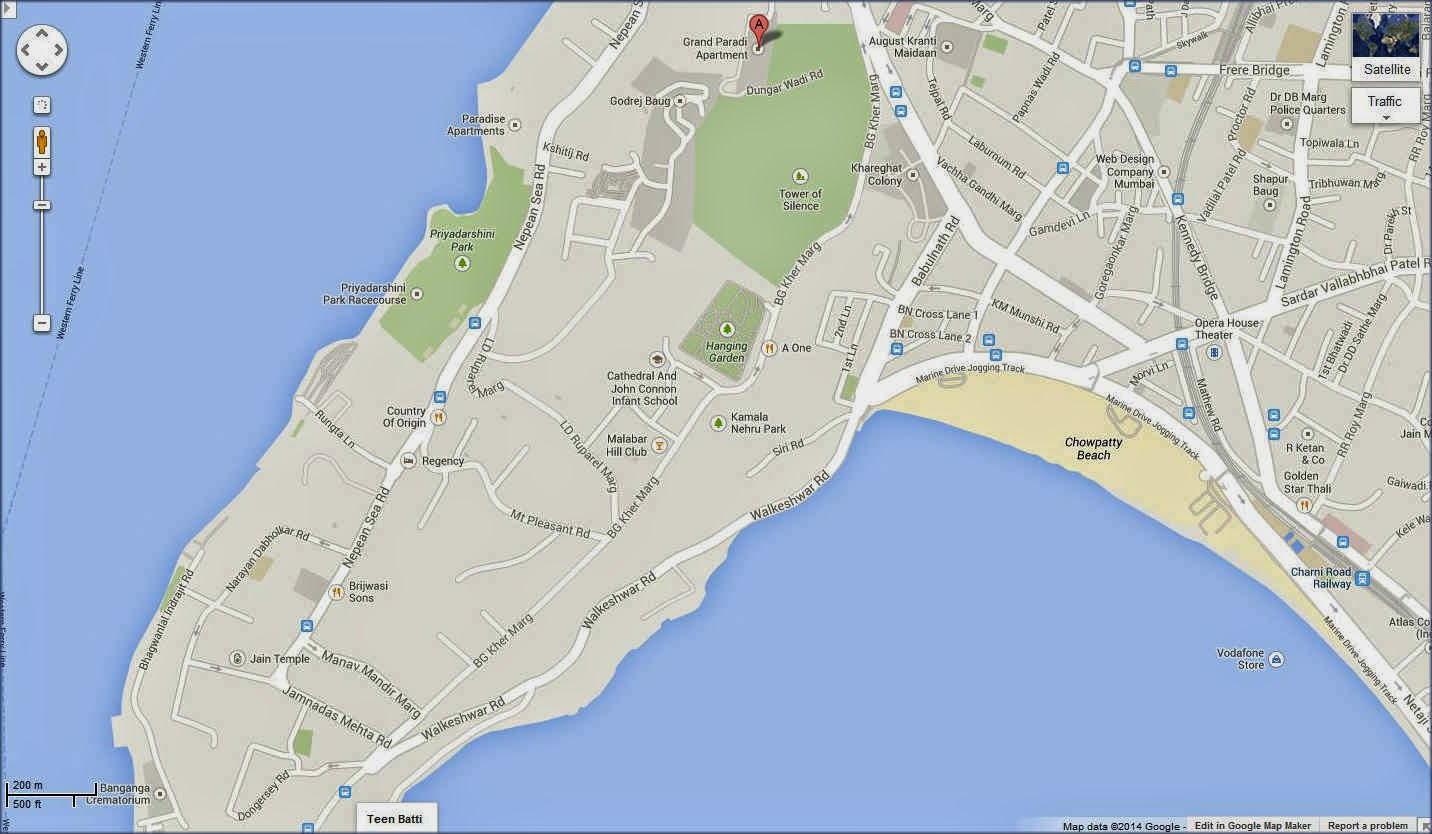 Google Map of Grand Paradi Towers