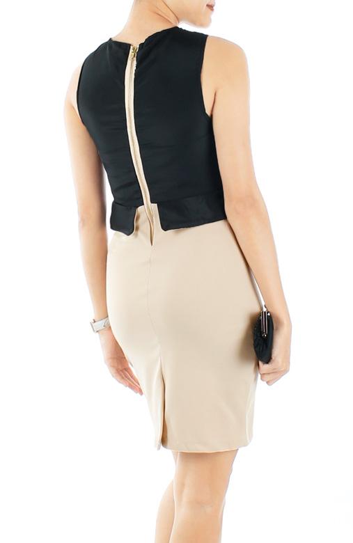 Black Frame Peplum Dress