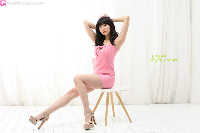 1 Yeon Da Bin in Pink - very cute asian girl - girlcute4u.blogspot.com