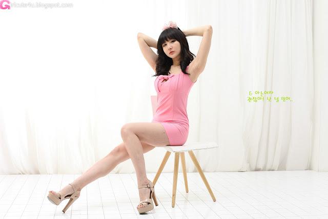 1 Yeon Da Bin in Pink - very cute asian girl - girlcute4u.blogspot.com