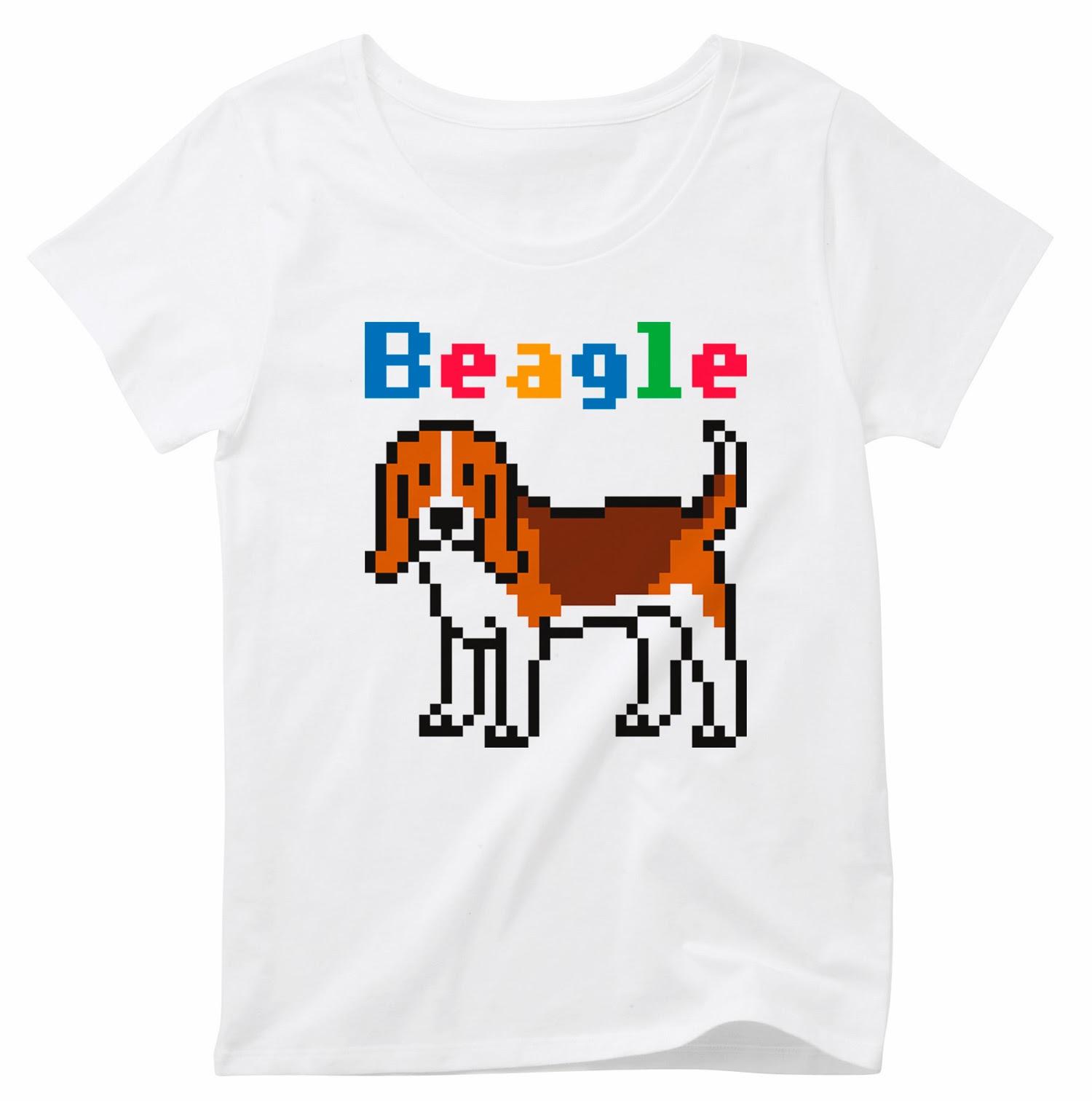 Pixel Party Boy「Beagle犬索」[Girls oval T-shirt] 4.3オンスオバールTシャツ | T-SHIRT COUNCIL