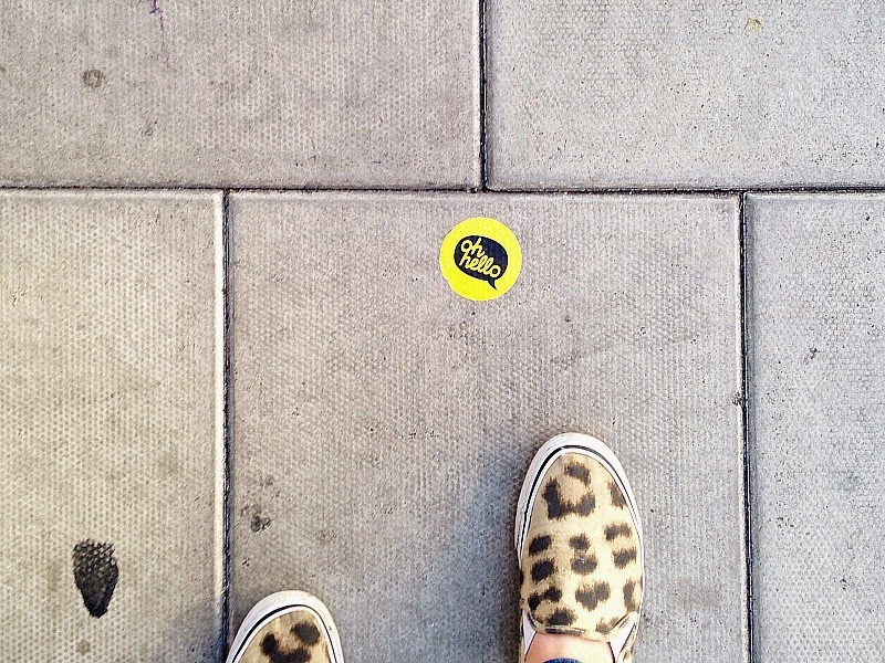 sticker bombing on the ground