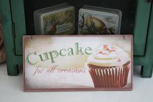 Träskylt - cupcake