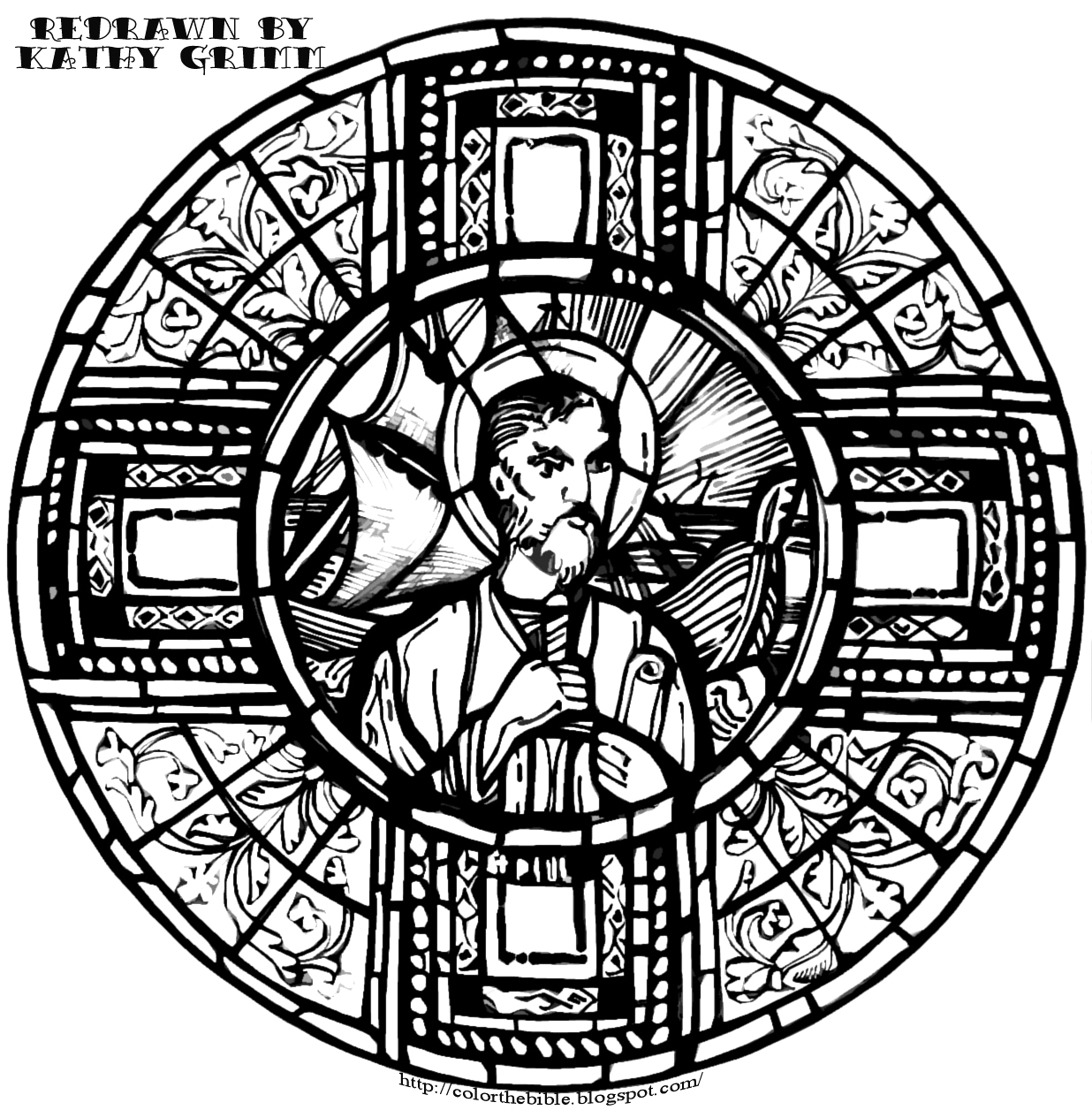 The apostle paul color the bible for Apostle paul coloring page