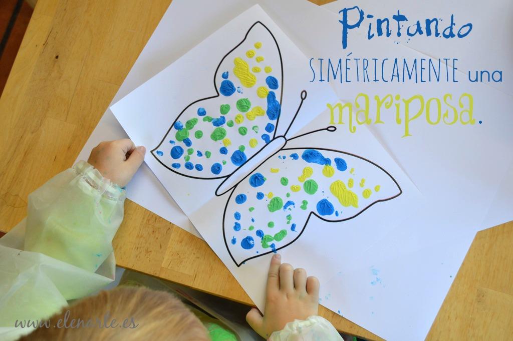 Pintar mariposas simétricas
