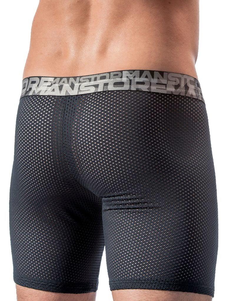 Manstore Soccer Trunks Underwear Black Gayrado
