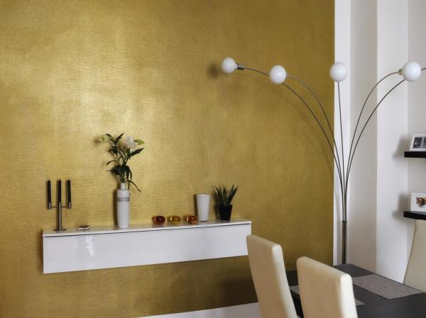 Gis neues wohnzimmer deckengestaltung for Goldene wand tapete