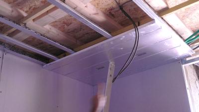 Pose du plafond chauffant rayonnant Caleoplafond classique