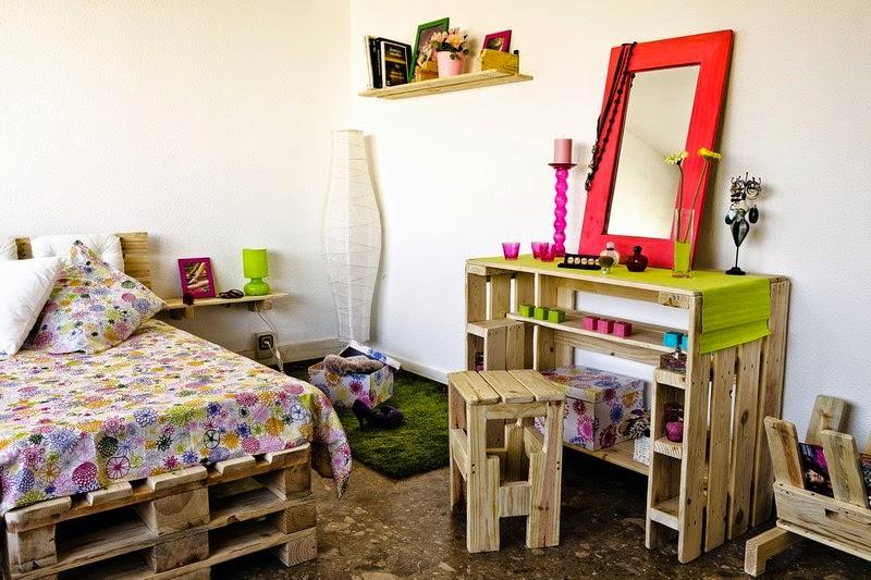 Dormitorio juvenil completamente - Dormitorios con palets ...