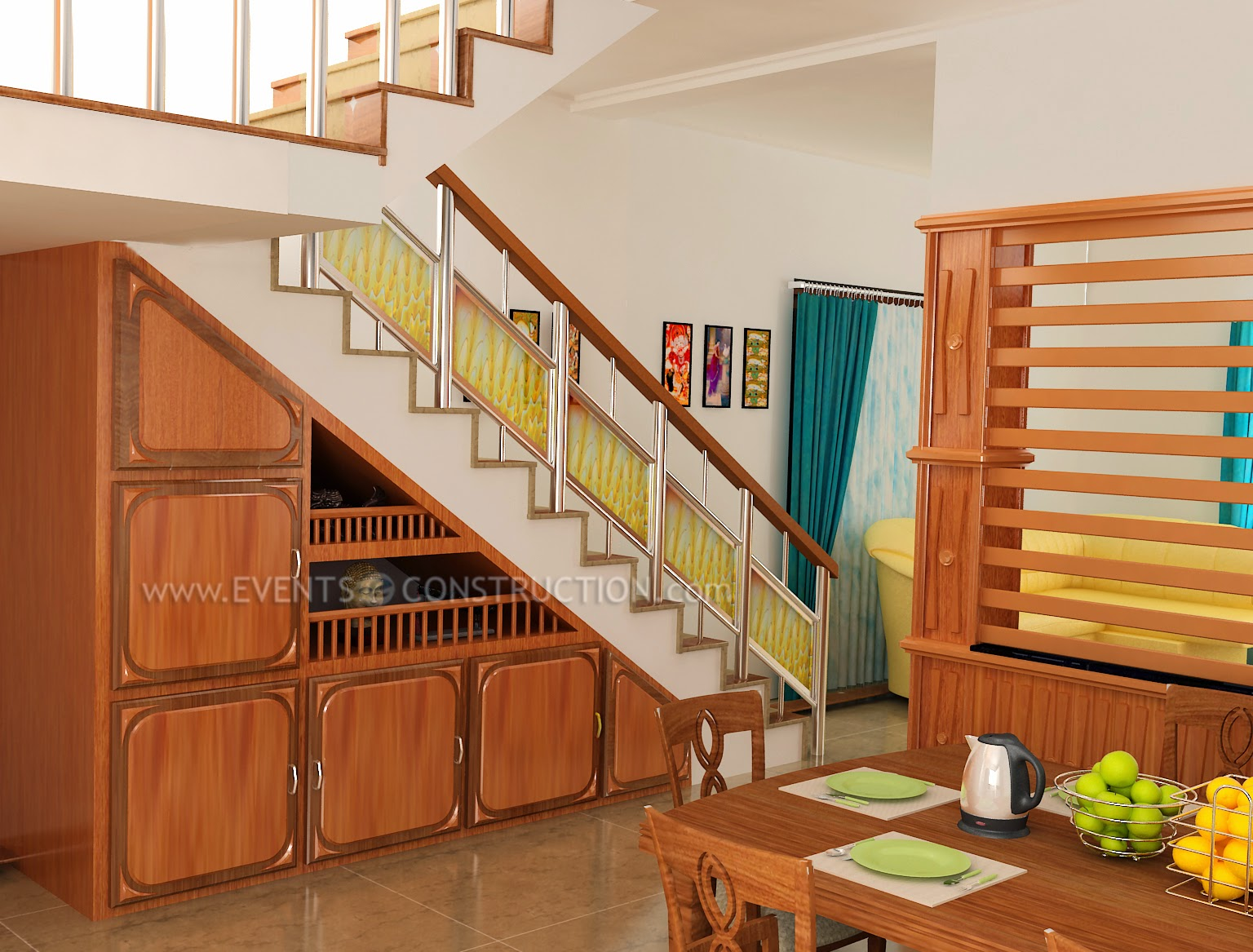 Comstaircase Designs For Homes : Evens Construction Pvt Ltd: Staircase design for kerala homes