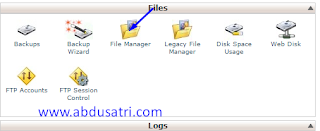 cara edit blog di cpanel