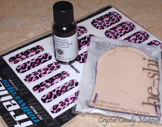 Liquid Tan He-Shi, Mini Mitt He-Shi, Nail Wraps Cheetalicious Pink Trendy (UKHairdressers.com)