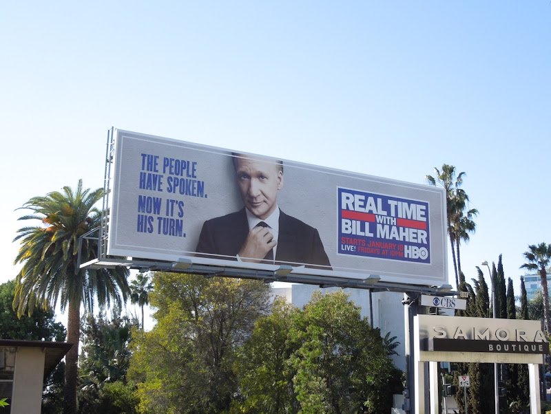 Real Time with Bill Maher People have spoken billboard