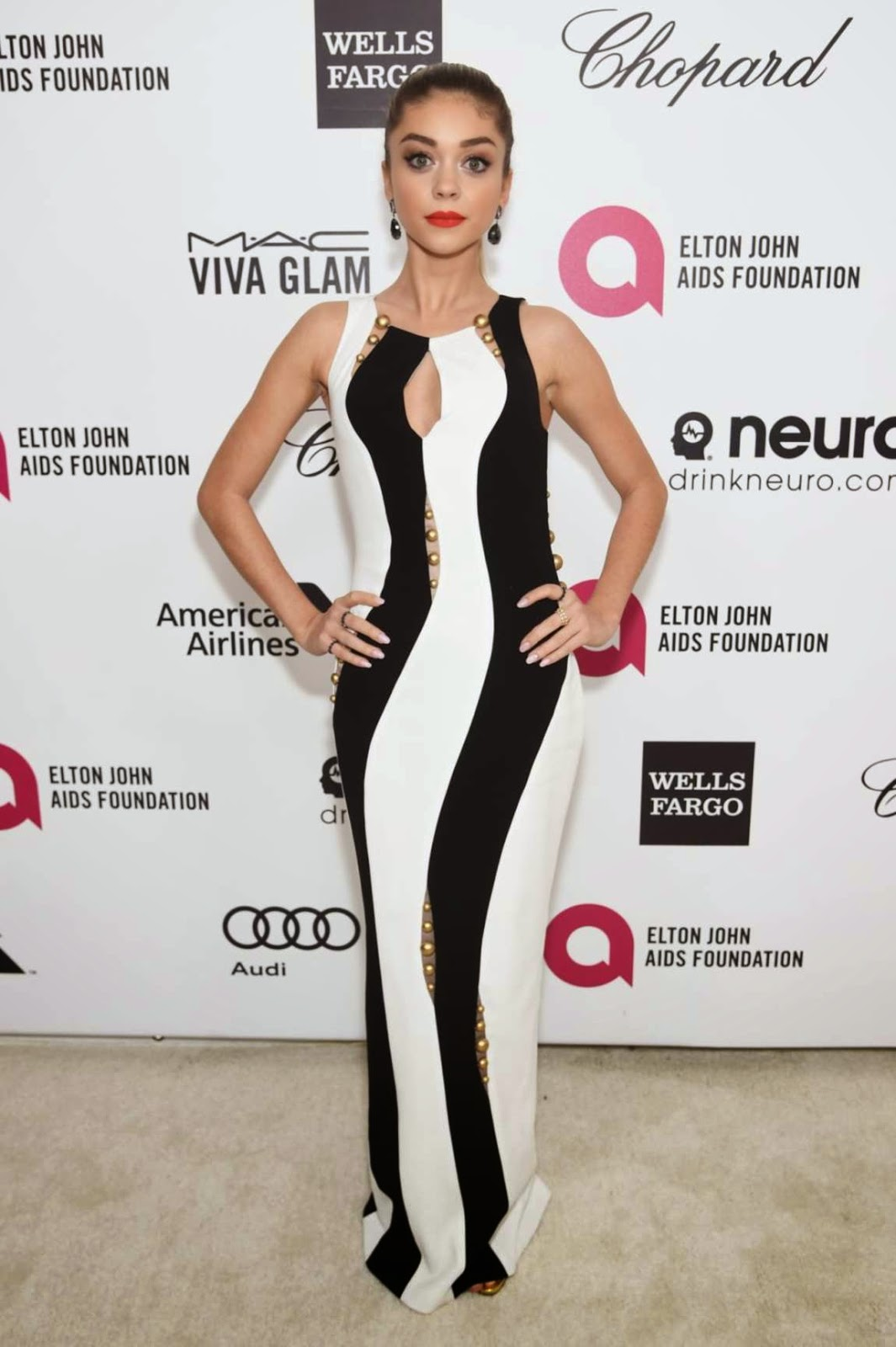 Sarah Hyland – 23rd Annual Elton John AIDS Foundation Academy Awards Viewing Party in LA