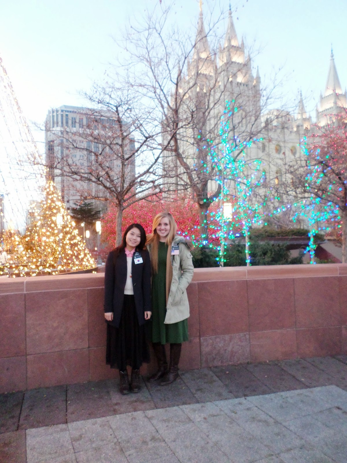 with Sister Oh in Temple Square