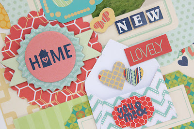 Home Sweet Home Layout by Juliana Michaels using Bo Bunny Family Is