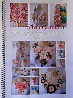 Apostila de crochê ensinando como fazer colares de flores