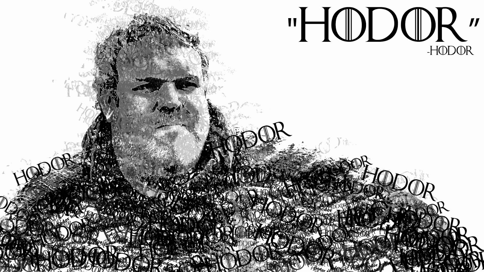 hodor made up of hodor game of thrones memes