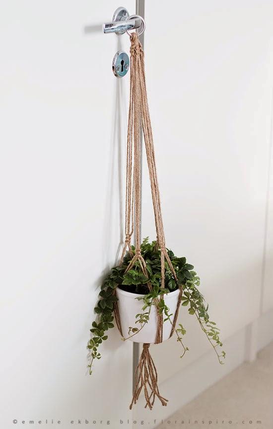 urban jungel bloggers, diy plant hanger, plant hanger, ampel makrame, macrame plant hanger