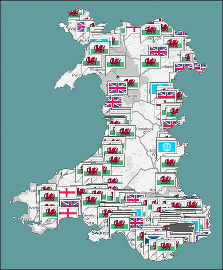Wales Identity Map