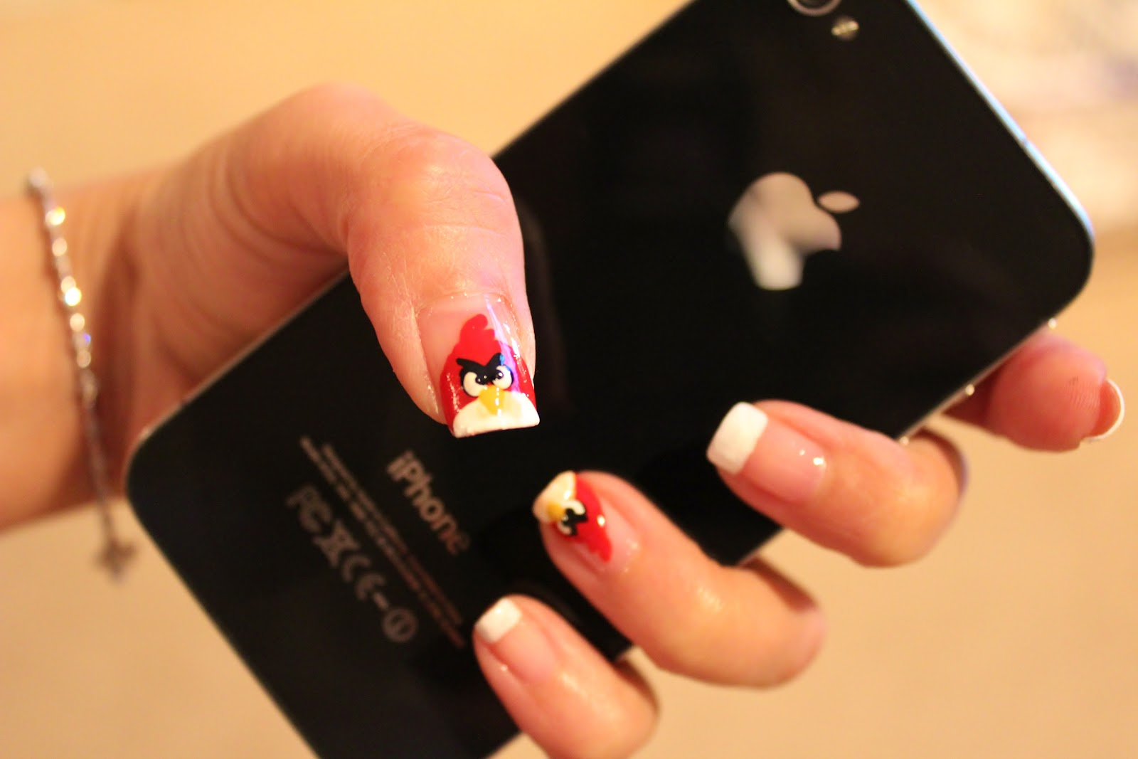 Simple Nail Art for Newbies: Angry Birds Nails
