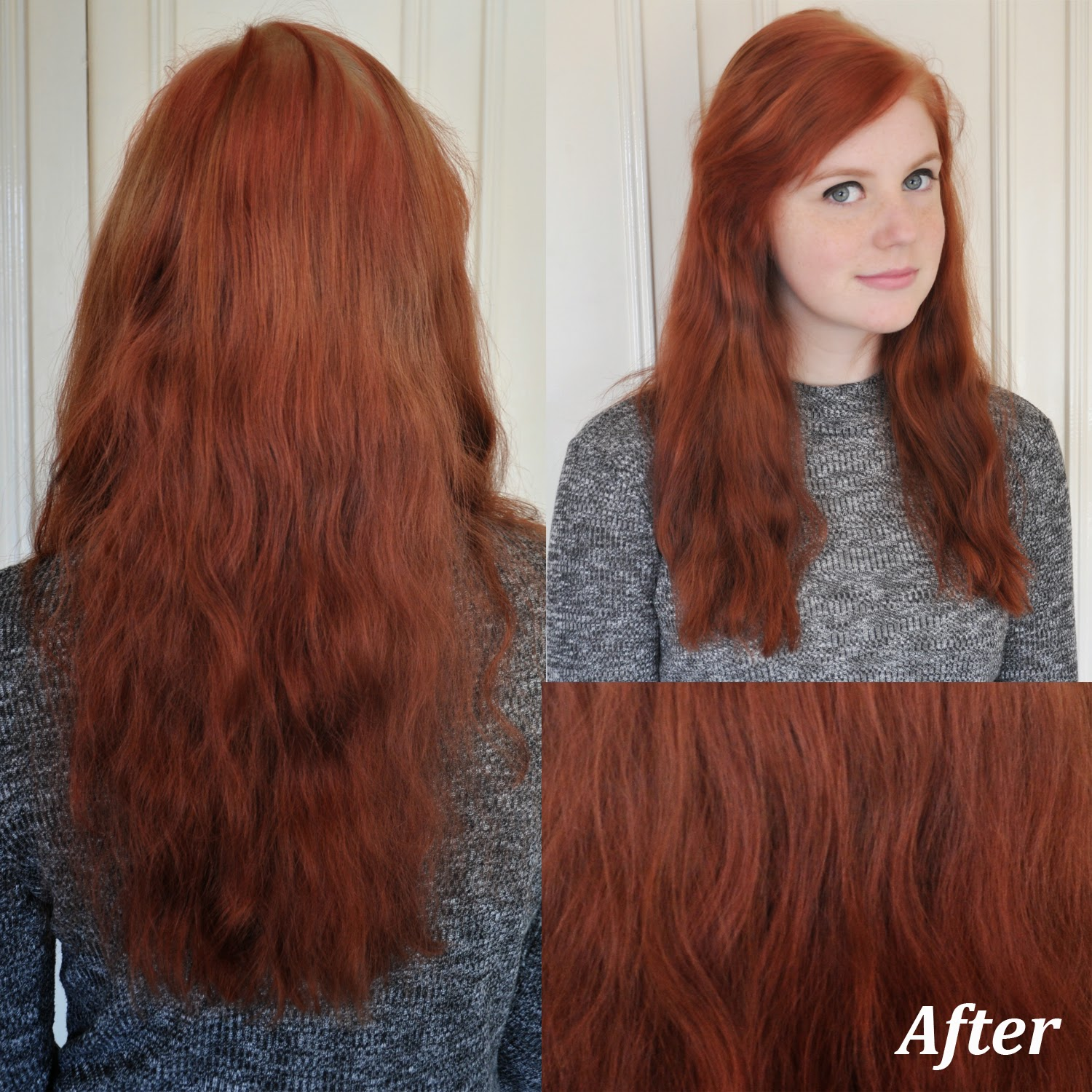 Stripping Hair Color Before And After