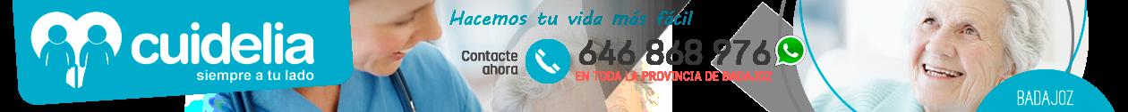 CUIDELIA · 646 868 976 · Cuidado de mayores en Badajoz