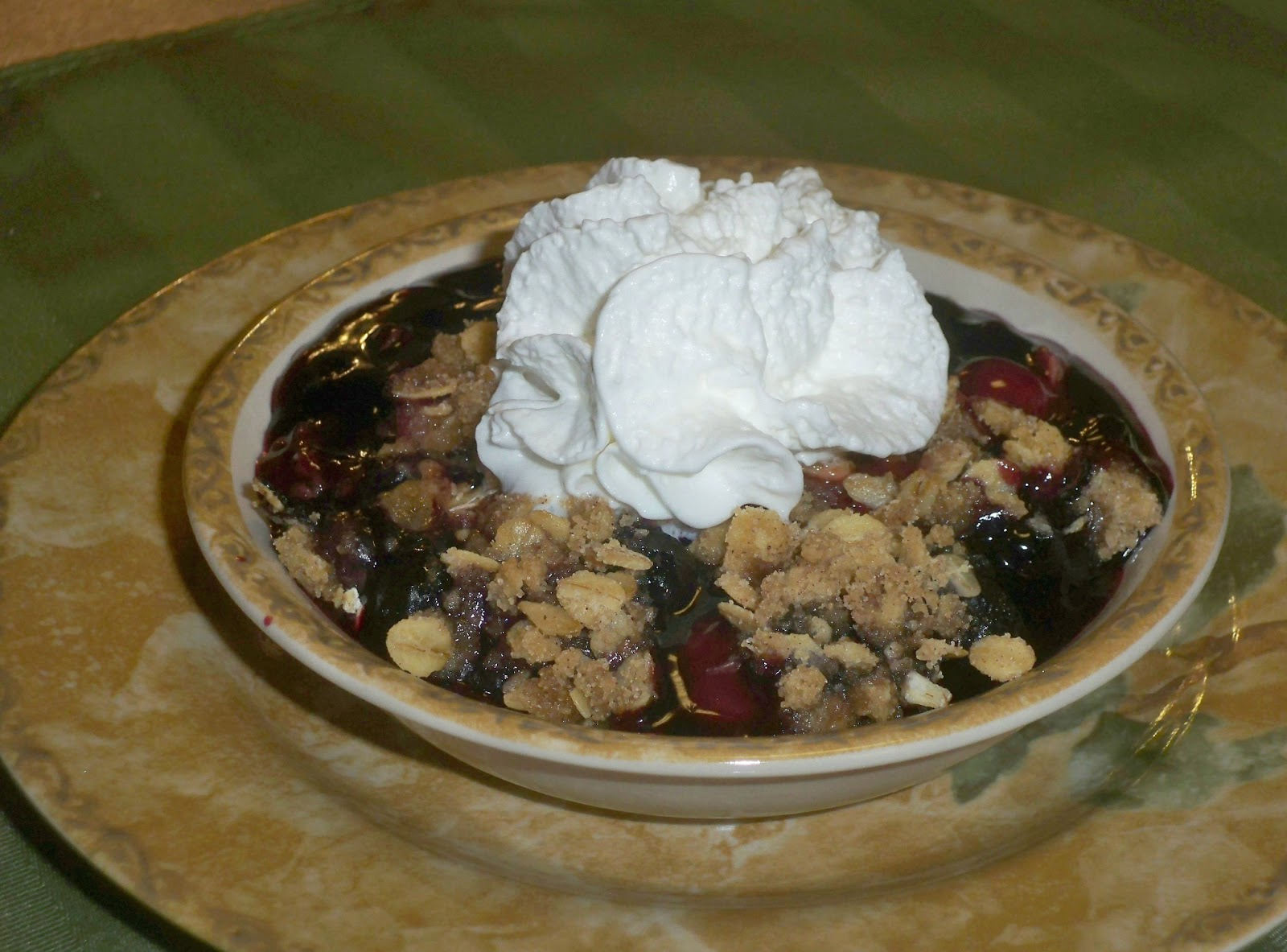 Plate Garnishes for Entries http://grammasinthekitchen.blogspot.com/2013/02/super-berry-crisp.html