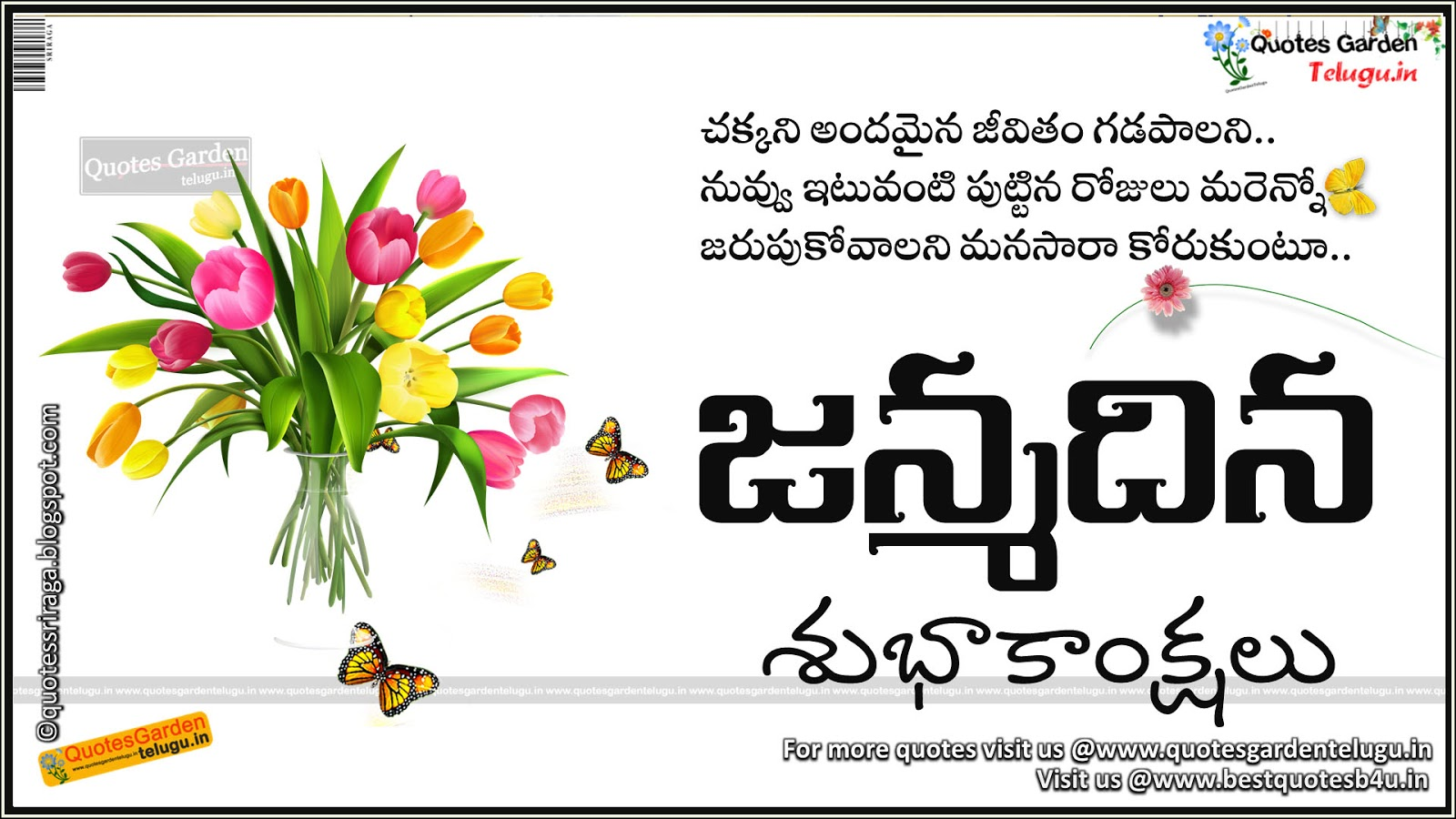 beatiful birthday greetings wishes in telugu quotes