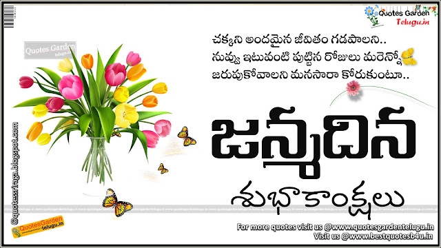 Beatiful Birthday Greetings wishes in telugu