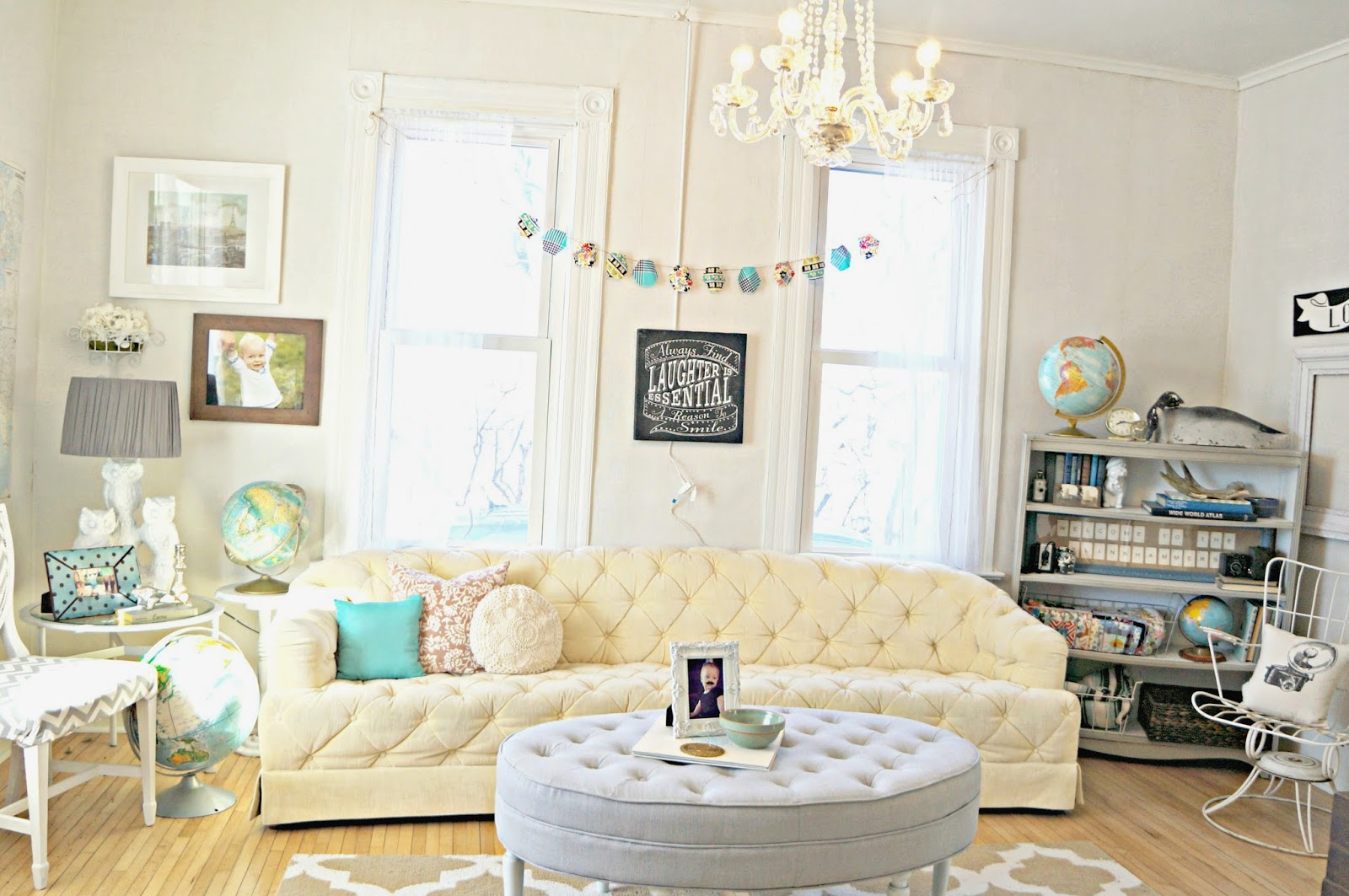 The White House Girls: Living Room {Before and After}