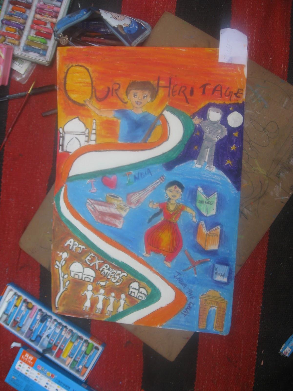 Essay On Heritage Of India India Heritage Drawing Painting Chart Poster Essay On Heritage Of India