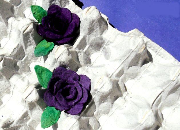 Lindas flores de carton de huevos manualidades de - Manualidades en reciclaje de carton ...