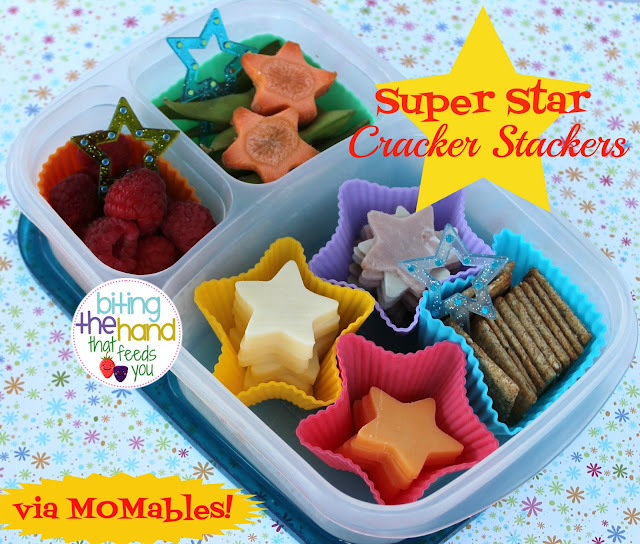 DIY alternative healthy easy school work lunch bento stars