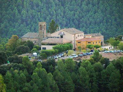 El poble de Gaià des de Santa Àgata
