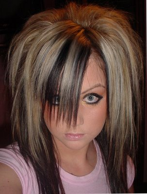 long blonde scene haircuts. Long Scene Girls Hairstyle