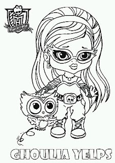 Monster High, Dibujos de Ghoulia para Pintar