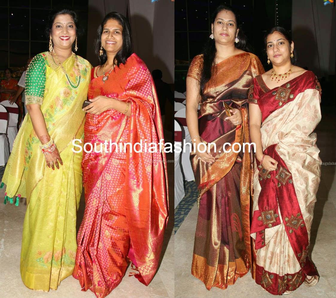 celebs in silk sarees