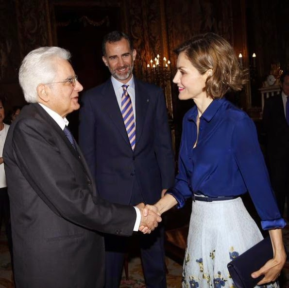 Spanish Royals Meet President Of Italian Republic In Madrid