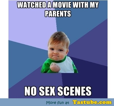 Watched a movie with parents