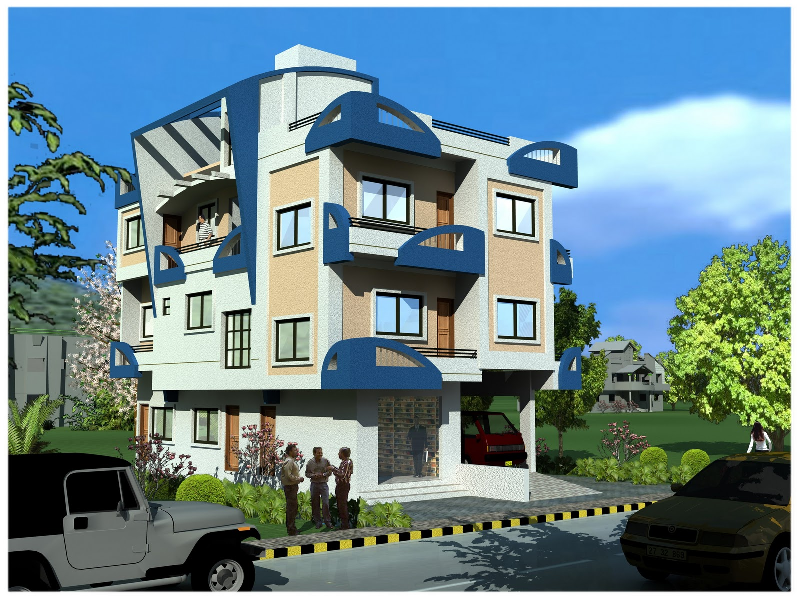 Front Elevation Images Free Download : Front elevation of house in tamilnadu joy studio design
