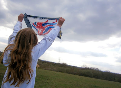 official olympic scarf london 2012 flag wave in the wind red white blue supporting next scarves paralympics