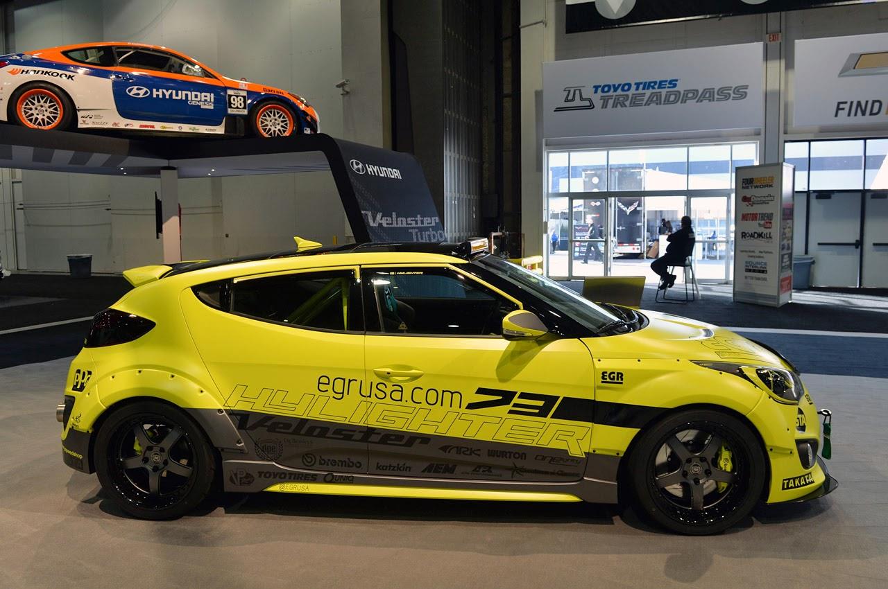 Modified Cars Hyundai Veloster Turbo Strut Their Sema Stuff