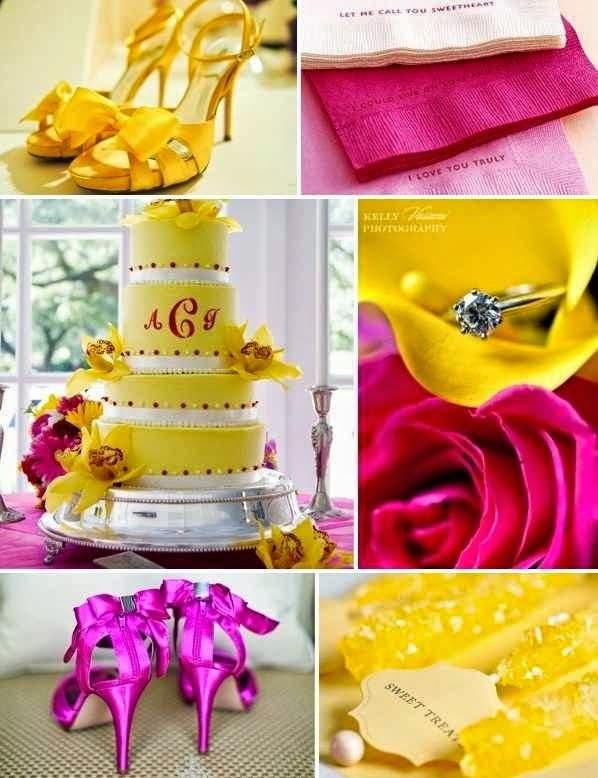 Casamento Amarelo e Pink