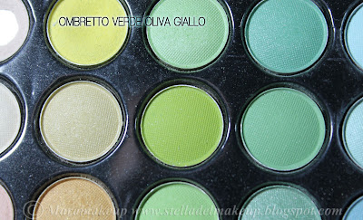 ombretto color verde oliva giallo