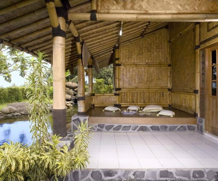 gambar desain rumah bambu   28 images   contoh gambar
